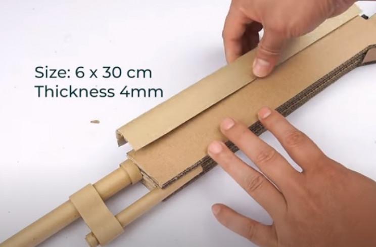 diy cardboard gun top edge