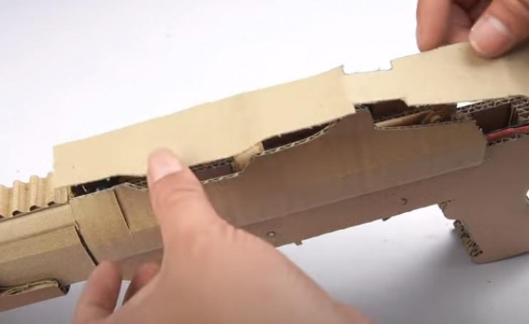diy cardboard gun top plate
