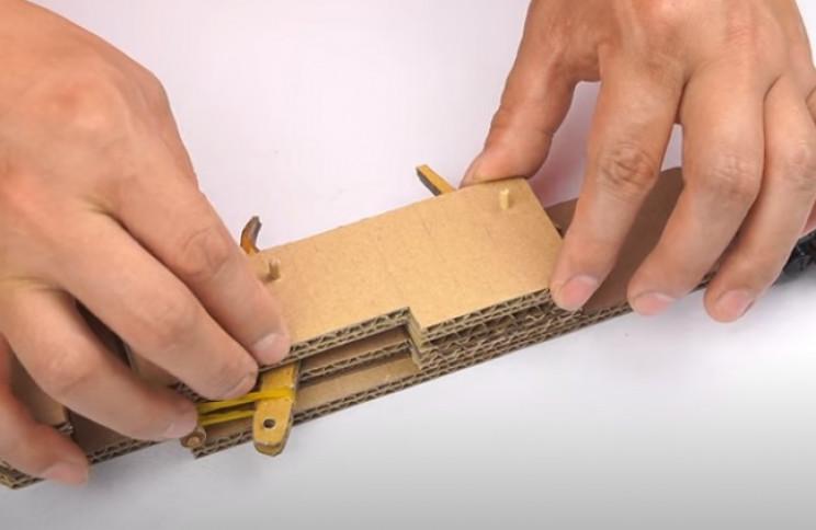 diy cardboard gun spring cover plate