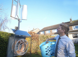 Engineer Builds Wind and Solar-Powered Clothes Dryer