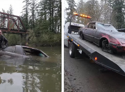 YouTuber Pulls Abandoned Mazda RX-7 from the Bottom of a River