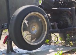 Watch What Happens When You Push a Tire Beyond the Speed of Sound