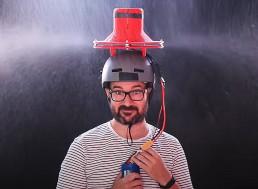 Turbine-Powered Umbrella? A New 3D-Printed Hat Blasts Rain Away