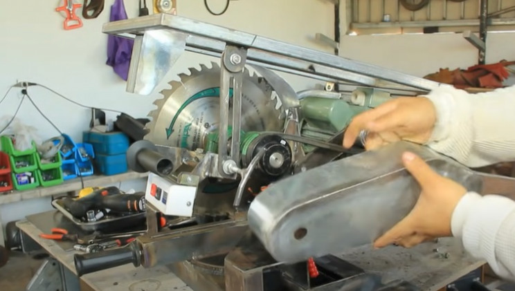 combo miter table saw housing