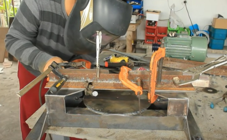 miter table saw combo weld l-shaped steel