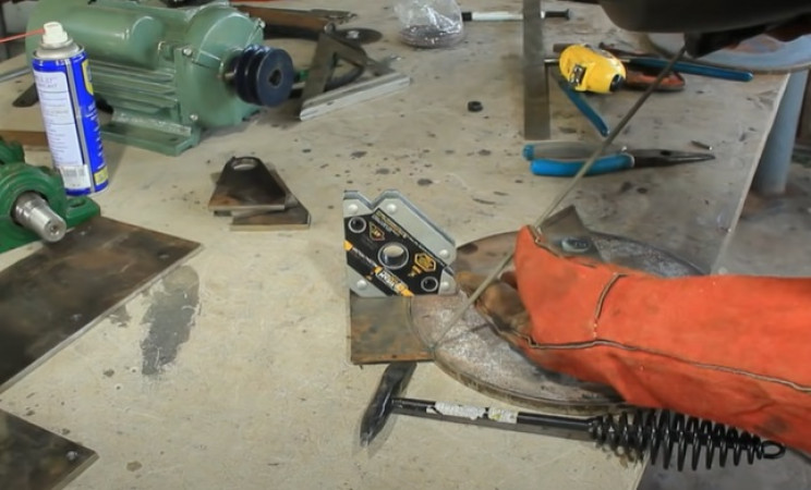combi miter table saw weld disk