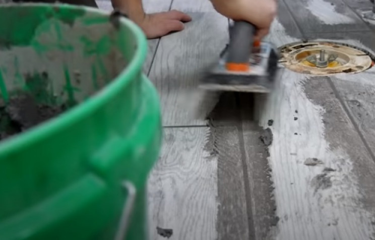 diy tiling grout