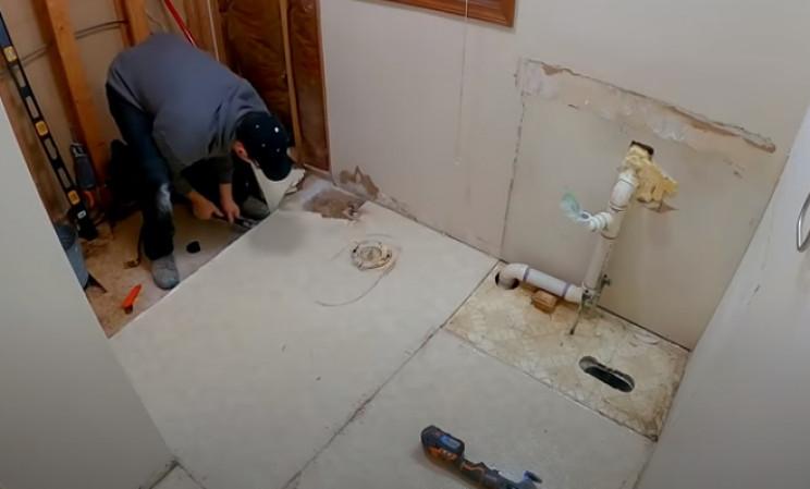 diy tiling old flooring