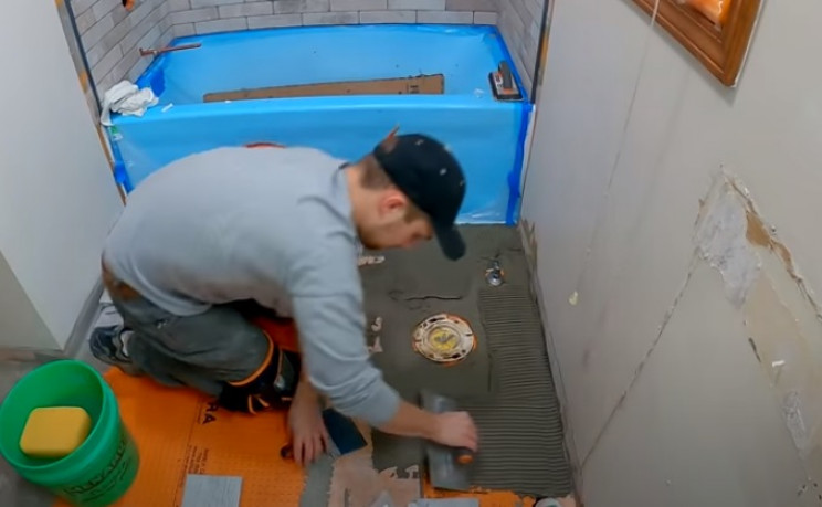 diy tiling over mortar