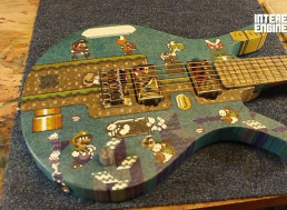 Building a Super Mario Guitar from 10,000 Lollipop Sticks