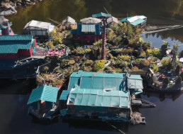 This Homemade Island Has Been an Off-Grid Self-Sufficient Home to a Couple for 27 Years