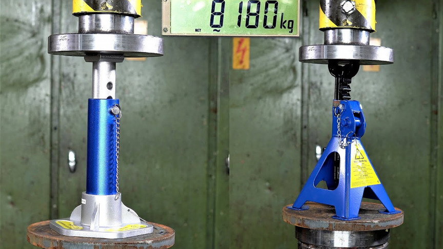 150-Ton Hydraulic Press Tests the Limits of Jack Stands