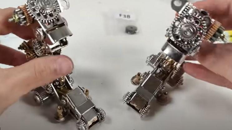 diy 3d mech model legs complete