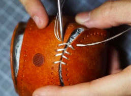 Turn Your Old, Dusty Baseball Into a Brand New One With Some Leather
