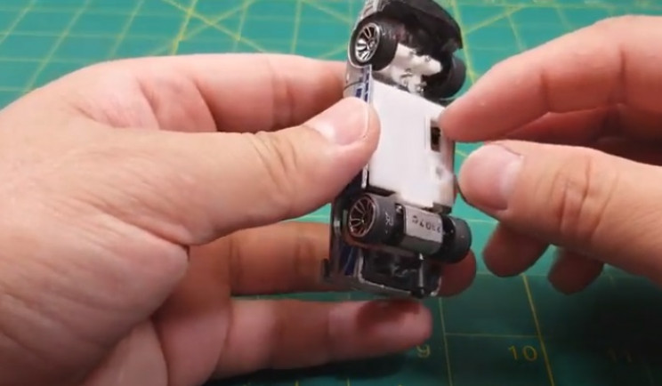 diy rc car parts inside