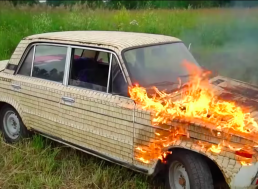 That's a Whole 'Lada' Pyromania! Watch Russians Spark Half a Million Matches on an Old Lada Car