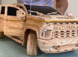 Woodcarver Builds Semi-Functional Chevy Silverado