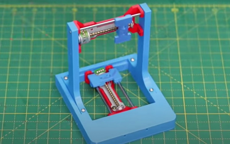 diy laser engraver arms and motor