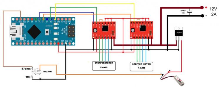 laser engaver circuit
