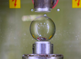 Watch Whether a Glass Ball Can Stop a 150-Ton Hydraulic Press