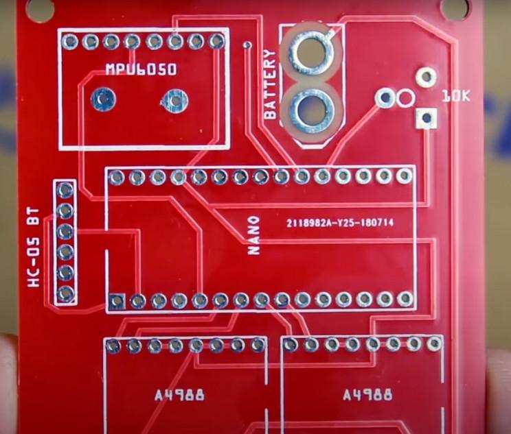 arduino color sorter custom board