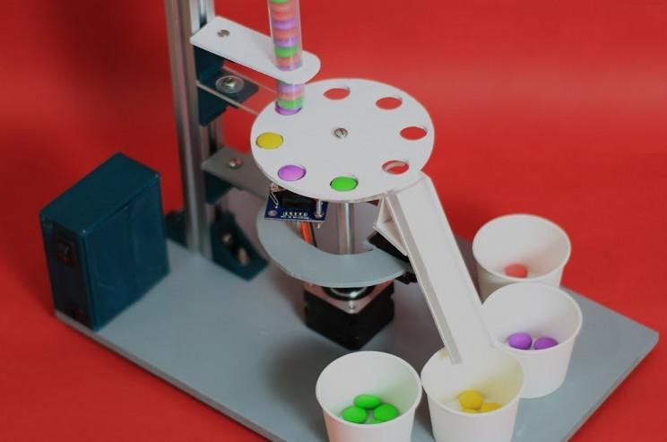 arduino color sorting machine