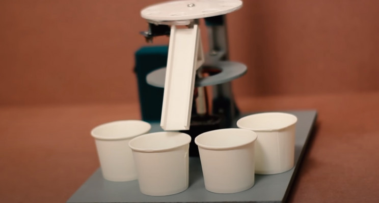 arduino color sorter cups and ramp