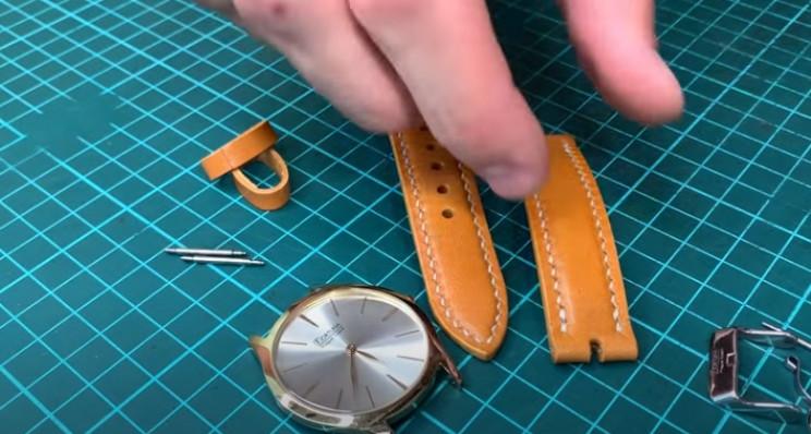 diy leather watch strap assemble