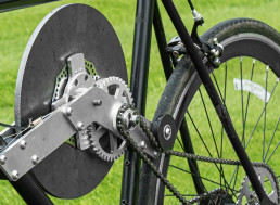 Engineer Builds Bike With Flywheel Kinetic Energy Recovery System